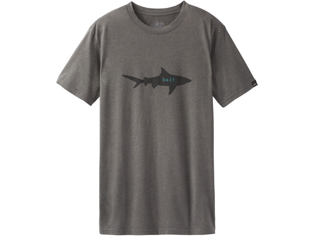 Prana M's Journeyman Slim Tee Bait Charcoal Heather